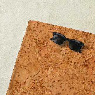 The Look of Macadamia Cork Burl Wood Grain Beach Towel