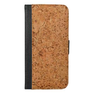 The Look of Macadamia Cork Burl Wood Grain iPhone 6/6s Plus Wallet Case