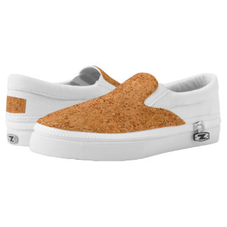 The Look of Macadamia Cork Burl Wood Grain Slip-On Sneakers
