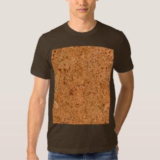 The Look of Macadamia Cork Burl Wood Grain T Shirt