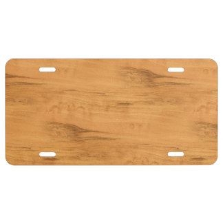 The Look of Maple Wood Grain Texture License Plate