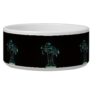 The Look of Neon Lit Up Tropical Palm Trees Bowl