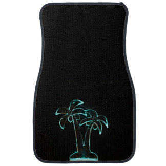 The Look of Neon Lit Up Tropical Palm Trees Car Floor Mat