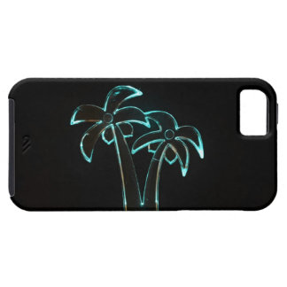 The Look of Neon Lit Up Tropical Palm Trees iPhone SE/5/5s Case
