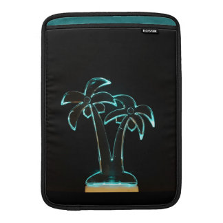 The Look of Neon Lit Up Tropical Palm Trees MacBook Air Sleeve