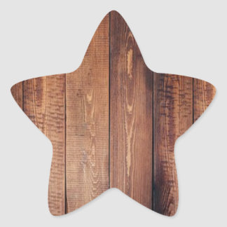 The look of real wood! star sticker