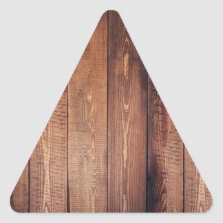 The look of real wood! triangle sticker