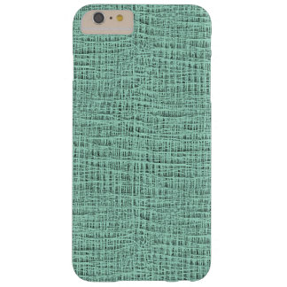 The Look of Seafoam Blue Gauze Weave Texture Barely There iPhone 6 Plus Case