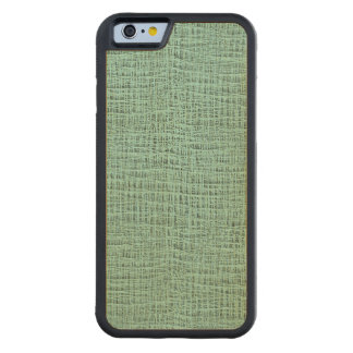 The Look of Seafoam Blue Gauze Weave Texture Carved® Maple iPhone 6 Bumper Case