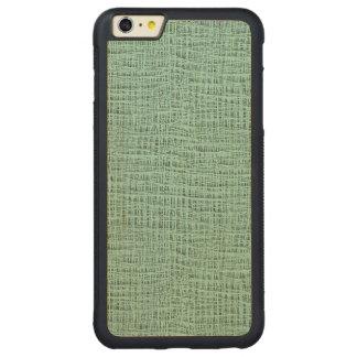 The Look of Seafoam Blue Gauze Weave Texture Carved® Maple iPhone 6 Plus Bumper