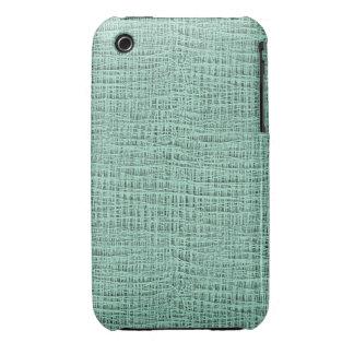 The Look of Seafoam Blue Gauze Weave Texture Case-Mate iPhone 3 Case