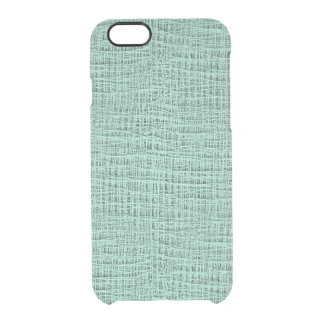 The Look of Seafoam Blue Gauze Weave Texture Clear iPhone 6/6S Case