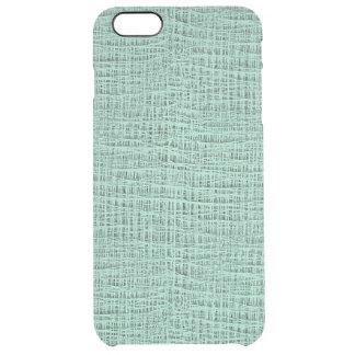 The Look of Seafoam Blue Gauze Weave Texture Clear iPhone 6 Plus Case
