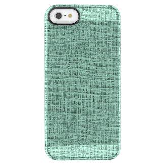 The Look of Seafoam Blue Gauze Weave Texture Clear iPhone SE/5/5s Case