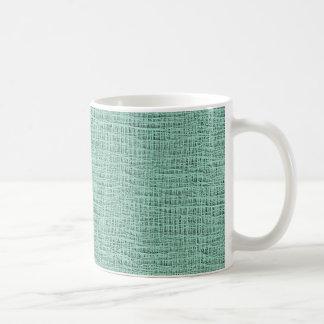 The Look of Seafoam Blue Gauze Weave Texture Coffee Mug