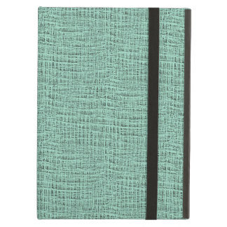 The Look of Seafoam Blue Gauze Weave Texture Cover For iPad Air