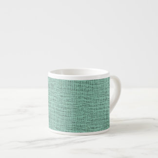 The Look of Seafoam Blue Gauze Weave Texture Espresso Cup