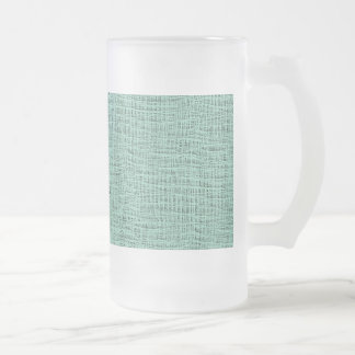 The Look of Seafoam Blue Gauze Weave Texture Frosted Glass Beer Mug