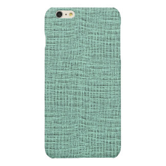 The Look of Seafoam Blue Gauze Weave Texture Glossy iPhone 6 Plus Case
