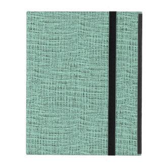 The Look of Seafoam Blue Gauze Weave Texture iPad Case