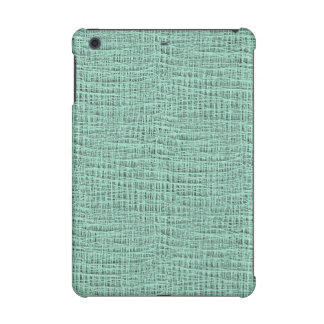 The Look of Seafoam Blue Gauze Weave Texture iPad Mini Cover