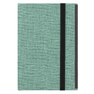 The Look of Seafoam Blue Gauze Weave Texture iPad Mini Covers