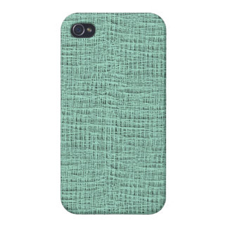 The Look of Seafoam Blue Gauze Weave Texture iPhone 4/4S Covers