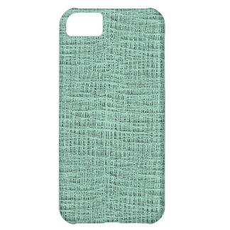 The Look of Seafoam Blue Gauze Weave Texture iPhone 5C Case