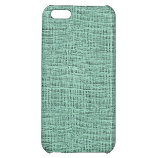The Look of Seafoam Blue Gauze Weave Texture iPhone 5C Cover