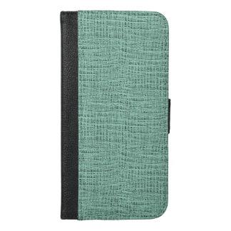The Look of Seafoam Blue Gauze Weave Texture iPhone 6/6s Plus Wallet Case