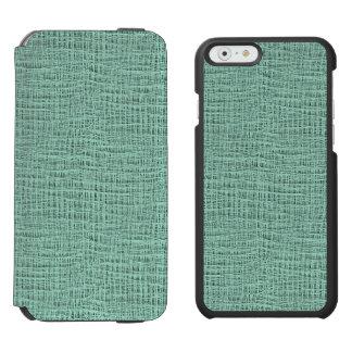 The Look of Seafoam Blue Gauze Weave Texture iPhone 6/6s Wallet Case