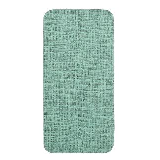 The Look of Seafoam Blue Gauze Weave Texture iPhone SE/5/5s/5c Pouch