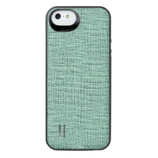 The Look of Seafoam Blue Gauze Weave Texture iPhone SE/5/5s Battery Case