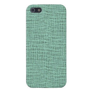 The Look of Seafoam Blue Gauze Weave Texture iPhone SE/5/5s Cover
