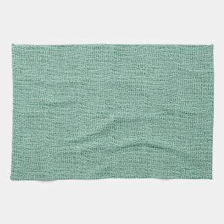 The Look of Seafoam Blue Gauze Weave Texture Kitchen Towel