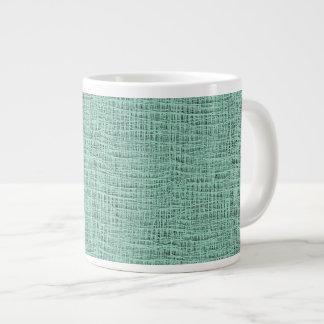 The Look of Seafoam Blue Gauze Weave Texture Large Coffee Mug