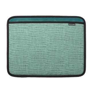 The Look of Seafoam Blue Gauze Weave Texture MacBook Air Sleeve