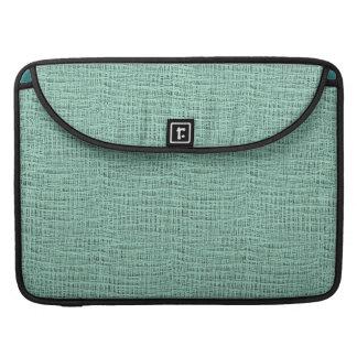 The Look of Seafoam Blue Gauze Weave Texture MacBook Pro Sleeve