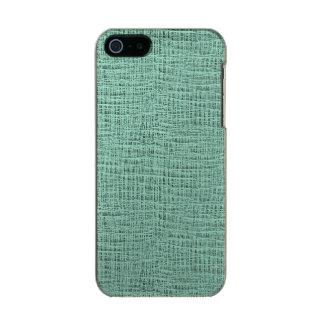 The Look of Seafoam Blue Gauze Weave Texture Metallic iPhone SE/5/5s Case