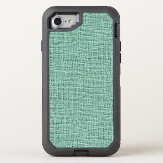 The Look of Seafoam Blue Gauze Weave Texture OtterBox Defender iPhone 7 Case