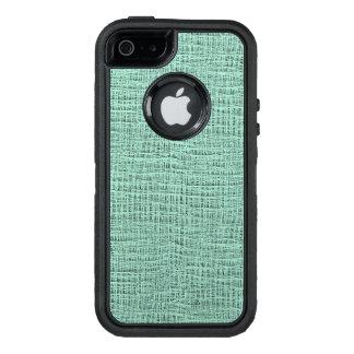 The Look of Seafoam Blue Gauze Weave Texture OtterBox iPhone 5/5s/SE Case