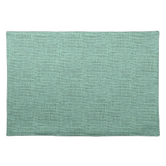 The Look of Seafoam Blue Gauze Weave Texture Placemat