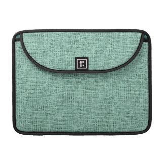 The Look of Seafoam Blue Gauze Weave Texture Sleeve For MacBook Pro