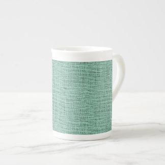 The Look of Seafoam Blue Gauze Weave Texture Tea Cup
