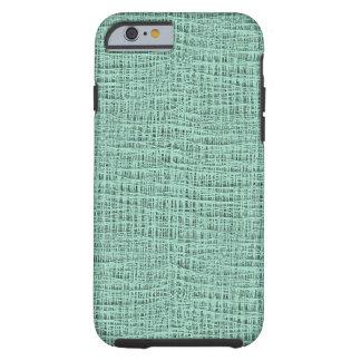 The Look of Seafoam Blue Gauze Weave Texture Tough iPhone 6 Case