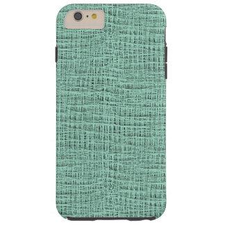 The Look of Seafoam Blue Gauze Weave Texture Tough iPhone 6 Plus Case