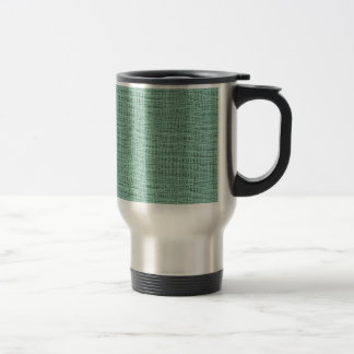 The Look of Seafoam Blue Gauze Weave Texture Travel Mug
