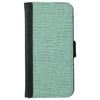 The Look of Seafoam Blue Gauze Weave Texture Wallet Phone Case For iPhone 6/6s