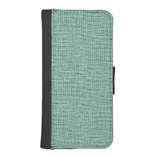 The Look of Seafoam Blue Gauze Weave Texture Wallet Phone Case For iPhone SE/5/5s