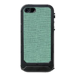 The Look of Seafoam Blue Gauze Weave Texture Waterproof Case For iPhone SE/5/5s